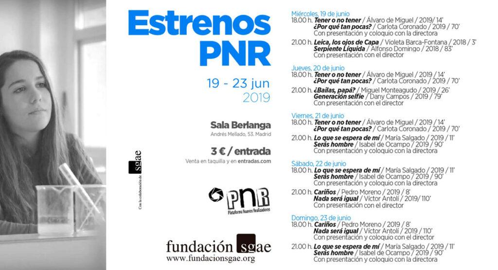 Programacion ciclo estrenos PNR