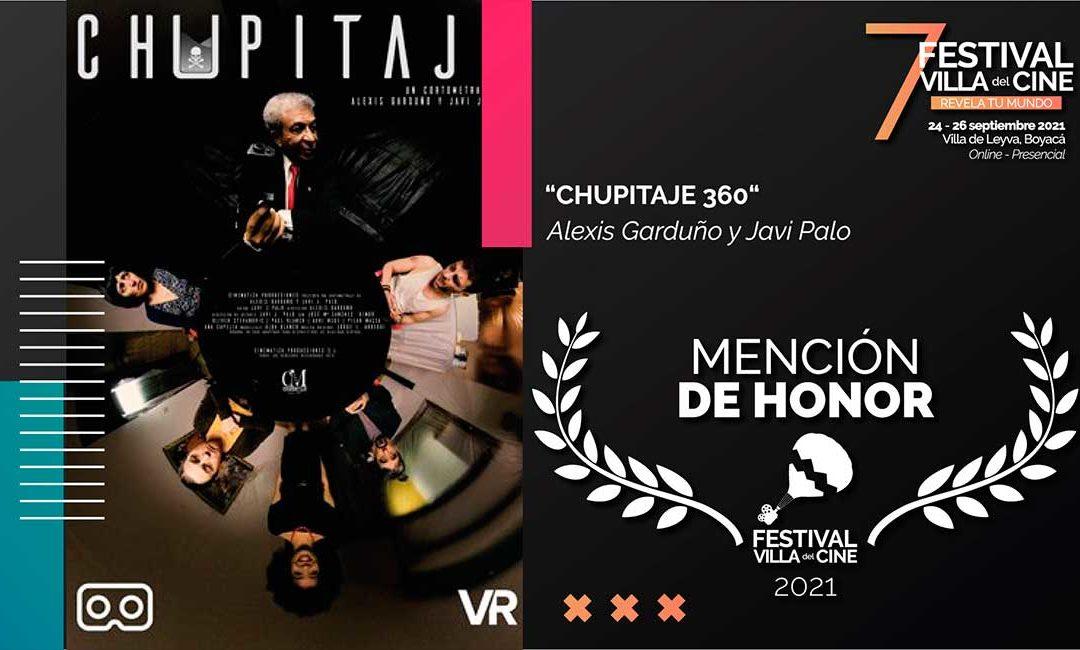 CHUPITAJE 360 de Javi J.Palo (PNR) recibe la Mención de Honor al mejor cortometraje de realidad virtual en el Festival Villa del Cine de Colombia